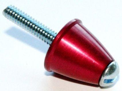 Red Aluminium Spinner