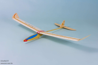 Lillienthal 31 45 in span Free Flight Glider