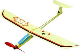 Twist 27 inch Rubber Powered all balsa stick model